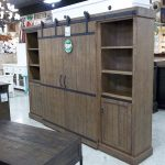 Rustic Entertainment Center with Barn Doors