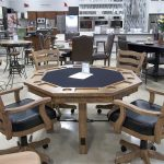 Rustic Wood Card Table and Chairs